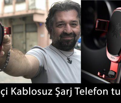 Kablosuz Şarj araç tutucu iphone samsung wireless charging inceleme tanıtım