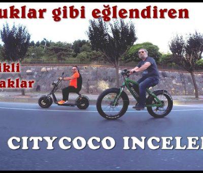 Citycoco Elektrikli Scooter Bisiklet eğlenceli inceleme ve test sürüşümüz